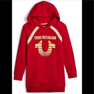 True Religion Horseshoe Hoodie Dress.NWOT